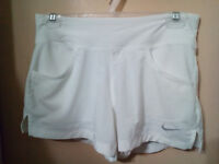 Nike white dri-fit shorts - womens small