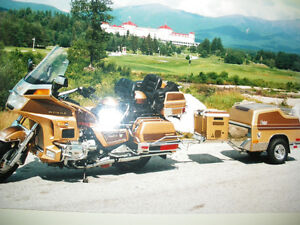 HONDA GOLDWING 1985, 1200 CC LIMITED EDITION, REMORQUE DENRAY
