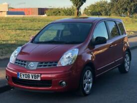 2008 NISSAN NOTE ACENTA R AUTOMATIC 1.6 5DR MPV+79K LOW MILES+8 SERVICE STAMPS