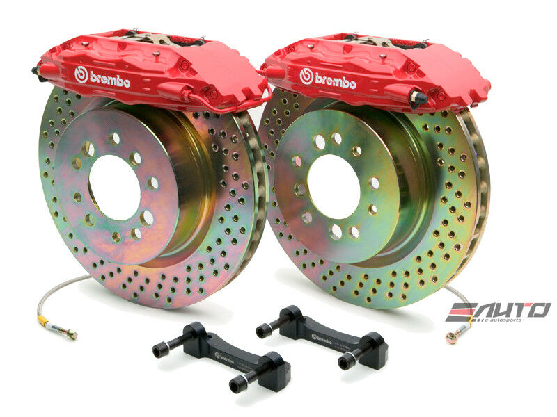 Brembo Front Gt Big Brake Bbk 4piston Red 355x32 Drill Disc Corvette C5 97-04