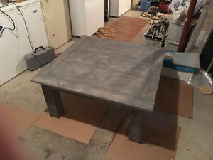 Custom coffee and end tables solid pine