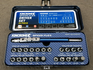 Kincrome HEX KEY 35% faster K5243 Speed Flex Set 23 Pce Rrp$130
