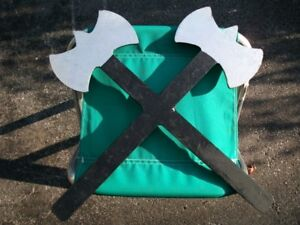 Heavyweight Metal Halloween Cross Hammer Axe