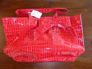 Mickey Mouse Large Red Purse Tote Faux Alligator.  $15 OBO.