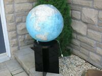 Rare MCM National Geographic  Lighted Globe on Lucite Stand