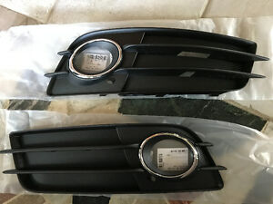 Brand new OEM Audi b8 s4 foglight grills grille with chrome
