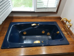 KOHLER® enameled cast iron jacuzzi bath tub