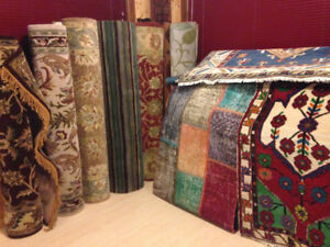 4 Wool Rugs from the Middle East, Nepal & India - NEW