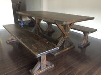 Reclaimed, rustic harvest dining table - delivery available