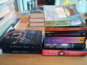 Many hard cover books some soft. Selling cheap