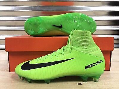 Nike JR Mercurial Superfly V FG Soccer Cleats Electric Green SZ ( 831943-303 )