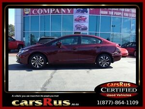 2015 Honda Civic EX/  5 Speed Powered Sunroof And Heated Seats!!
