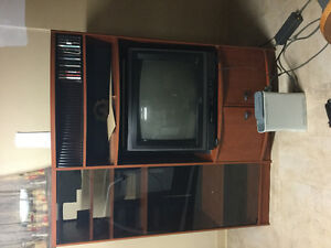 TV stand:75$ | 100$ if you want the tv with it.