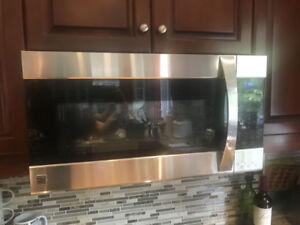 kenmore mint condition stainless steel over the range microwave