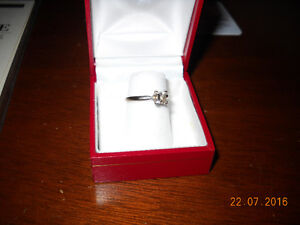 Charm Jewelers 1/2 KT, 14 KT White Gold Diamond Engagment Ring