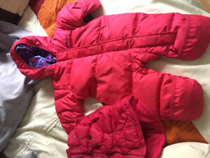 Columbia snowsuit 3-6 months and Vest