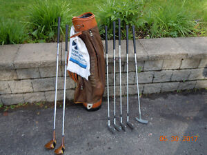 Golf Clubs + bag,right-handed/Sac de golf +batons pour droitier