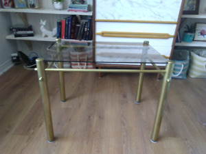 table basse bronze