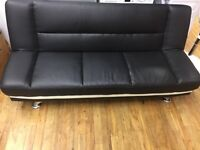 Hi for sale 3 seater sofa bed black leather