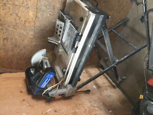 """10"""" wet tile saw & stand"""