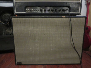 Handmade 2x12 speaker Cab w/ Eminence Red White and Blues