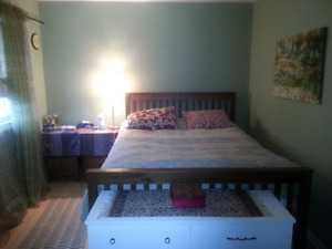 Bed box spring and frame (moving sale)