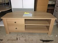 BRAND NEW MILANO OAK EFFECT CORNER TV UNIT