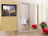 Brand New 2 or 3 Door Sliding Door Wardrobes with Full Mirrors, Shelves, Hanging Rails in many sizes