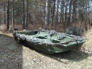 10 Ft. JON BOAT with Duck Blind