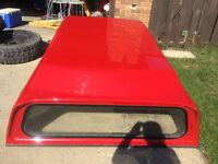 Red GMC canopy