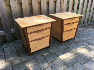 Solid Wood Night Stands (Pair)