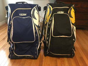 """Two 33"""" GRIT Rolling Hockey Bags- One never used"""
