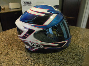 Shoei RF-1200 Valkyrie with a tinted(blue) mirror type MEDIUM
