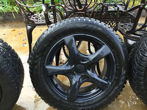 4-High Performance Studded Snow Tires W/Touren Rims North Shore Greater Vancouver Area image 1