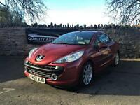 Peugeot 207 CC 1.6 THP GT 2dr Convertible 2008 57 plate leather interior in red