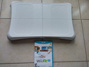 Wii Balance Board with Wii U Fit game disc