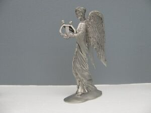 Seagull Pewter Angel with Harp Taper Candle Holder London Ontario image 1