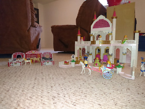 Playmobil castle and accessories.