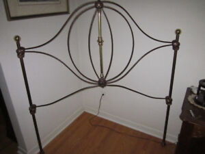 Wrought Iron Headboard Copper Color Mint