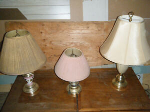 3 Brass Table Lamps