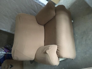Wide leather reclining chair