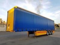 2003 GENERAL TRAILER CURTAINSIDE TRIAXEL TRAILER 45FT - MONTROCAN CRANE FRUEHAUF