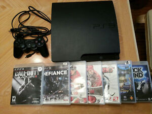 Playstation 3 PS3 with 7 games - $100