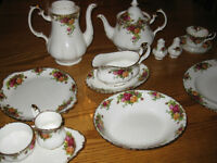 "Royal Albert ""Old Country Roses"" China (12 place settings)"