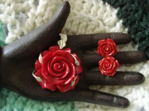 pendant + earrings set