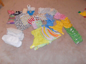 Diapers, wet bags, liners, potty seat, swim diaper and more!