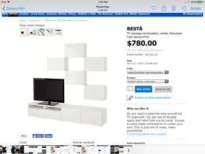 5 ikea Besta Cupboards/Shelves, White