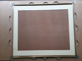 Picture frame (79cm x 66cm) parts. Needs new glass (not included)- free.