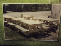 6 ft Spruce Picnic tables