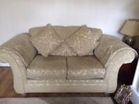 3+2 seater sofa plus footstool excellent condition